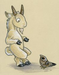 Goat and Goatsucker by ursulav