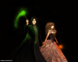 Severus and Hermione by LuciferaCat