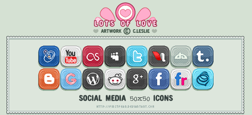 Pixel - Social Media Icons by firstfear