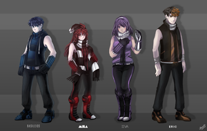 Character Lineup Pt. 1 by mewDoubled