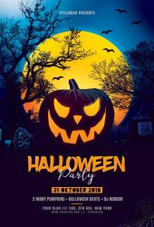 Halloween Party Flyer by styleWish
