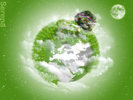 Green planet by Olgola
