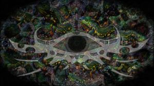 Tripping Eye - Psychedelic Deep Dream Fractal by schizo604