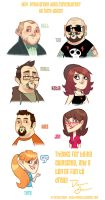 Facebook Caricatures 1 by DrewGreen