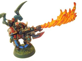 Chaos Marine with Flame-Thrower by Pyreshard