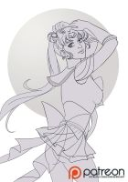 Lineart for practice: Sailor Moon by sionra
