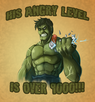 HULK IS ANGRY by Gotetho