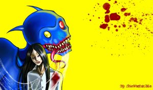 Tomio and monster by SheWasZombie