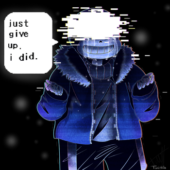 [Speed Paint] UT: ''juste give up . i did .'' by Twinklii