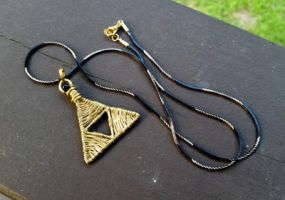 Triforce Necklace Pendant by heatherfish24