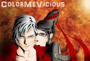 Dante and Bayonetta by ColorMeVicious