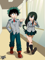Commission: Izuku and Tsuyu by DANMAKUMAN