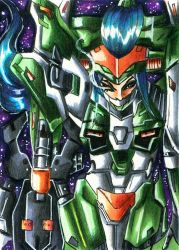 [ACEO Commission] Mechagirl by Shiranui94