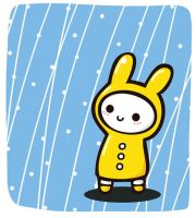 Rainy bunny by Yume-fran