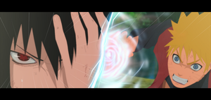 Naruto vs Sasuke by SilverCore94