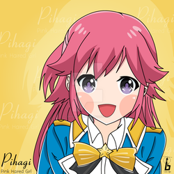 Pihagi - Pink Haired Girl by officialbrap