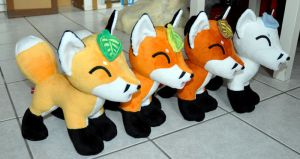 Leaf foxes for all seasons are finished! by Sethaa