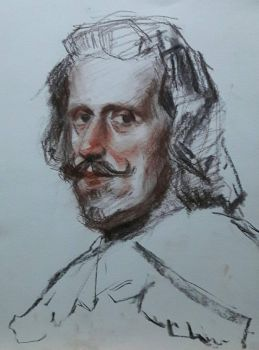 Studying Velazquez's Portrait of Philip IV by HeyJonny