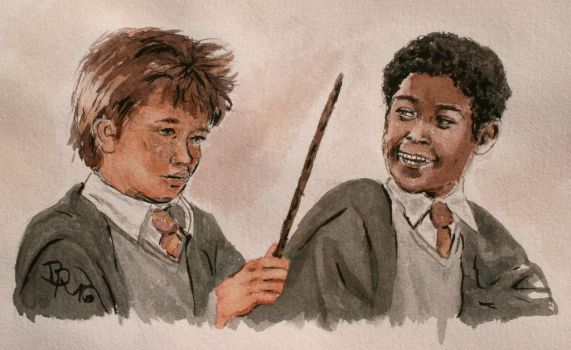 Seamus Finnigan and Dean Thomas by LoonaLucy