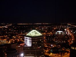 Minneapolis - Night View from the Conference Room by ice-queen-blue