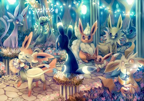 20th Anniversary - Eeveelutions by Aonik
