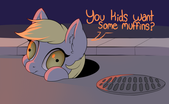 Friendly Neighborhood Derpy in the Sewers by Evehly