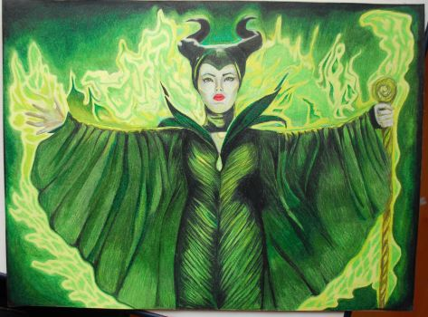 Maleficent - prismacolor by Ashley2020
