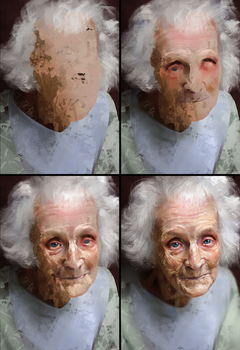Study of an Elderly Woman Process by AaronGriffinArt