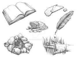 Book Sketches Preview by Velnna