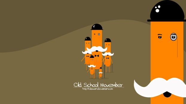 Old School Movember by clasixart