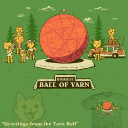 Greetings from the Yarn Ball by InfinityWave
