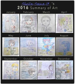 Sheila-Sama-15's 2016 Summary of Art by Sheila-Sama-15