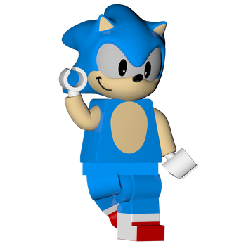Lego Classic Sonic Render: Lego Dimensions by SonicOnBox