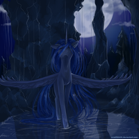 Moon in water by AliceSmitt31