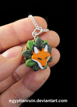 Hidden Fox Acorn Necklace by egyptianruin