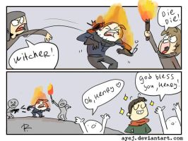 The Witcher 3, doodles 323 by Ayej