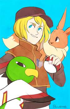 Pokemon Trainer Armin by StrawberryQuincy