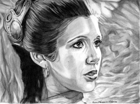 Leia at Jabba's Palace by khinson