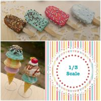 1/3 scale ice cream and ice lollies by LittlestSweetShop