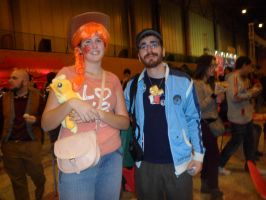 Applejack human and Pokemon Trainer [Mangafest-14] by DrPingas