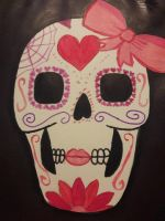 girly sugar skull by TaitGallery