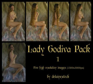 Lady Godiva Pack 1 by delainestock