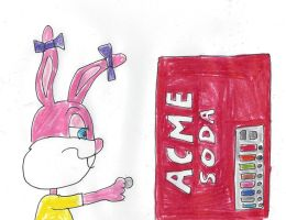 Babs Bunny at the soda vending machine by dth1971