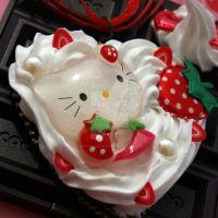 Hello Kitty Strawberry Cake by AndyGlamasaurus