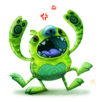 Day 611# - Sketch Dailies Challenge - Alien by Cryptid-Creations