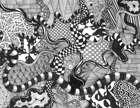 Zentangle by elementjhedren