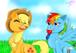 Applejack and Rainbow Dash Request by MangaRINer