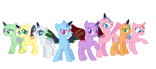 Mlp Base We Are The Elements Of Harmony by DaDoubleRainboom
