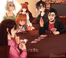 A round of poker by WinterCamellia