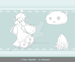 Critter Adoptable - Ice Elemental SOLD by Asgard-Chronicles